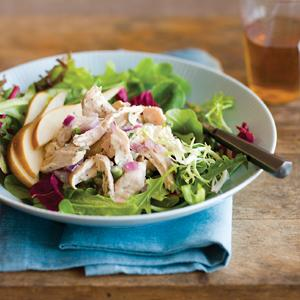Green Tea Poached Chicken Salad