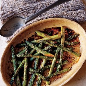 Oven Roasted Asparagus with Balsamic Butter