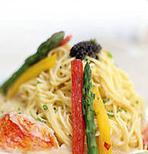 Angel Hair Pasta with Lobster and Veggies