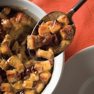 Maple Raisin Bread Pudding
