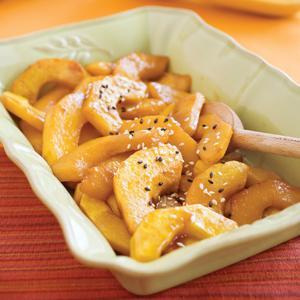 Sesame Ginger Roasted Butternut Squash