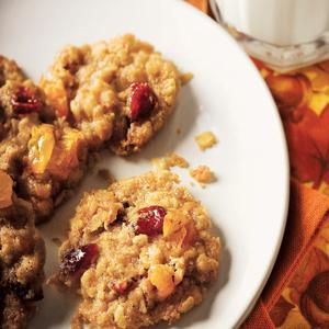 Apricot Cranberry Oatmeal Cookies