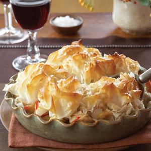 Chicken Dijon Potpie with Phyllo Topping