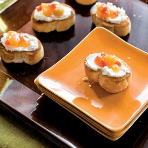 Mango and Goat Cheese Bruschetta