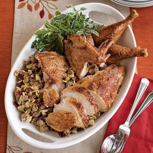 Paprika Roasted Turkey with Apple Stuffing