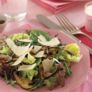 Herbed Spring Greens with Shiitake Saute