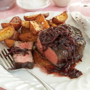 Filet Mignon with Steakhouse Style New Potatoes