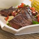 Roasted Herb Rubbed Beef with Orange and Onion Salsa