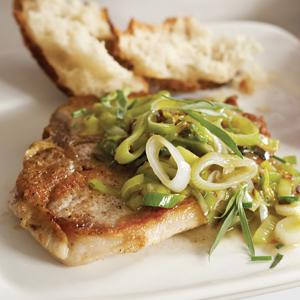 Pork Chops with Spring Herbs
