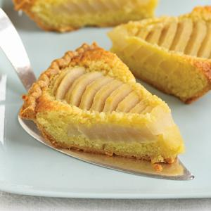 Riesling Poached Pear Frangipane Pie