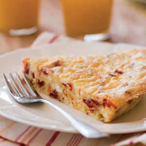 Berry Manor Inn Tomato and Goat Cheese Breakfast Pie