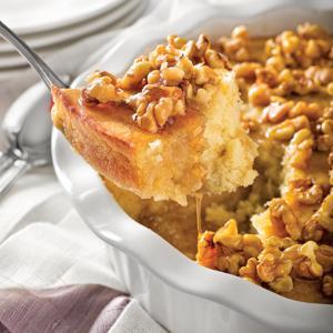 Maple Rum Pudding Cake
