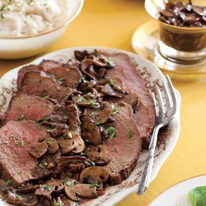 Roast Beef with Wild Mushroom Sauce