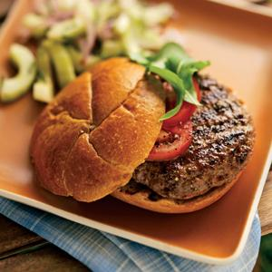 Feta Stuffed Lamb Burgers