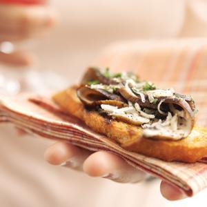 Grilled Portabella Carpaccio Bruschetta