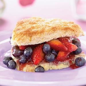 Mixed Berry Cherry Shortcake