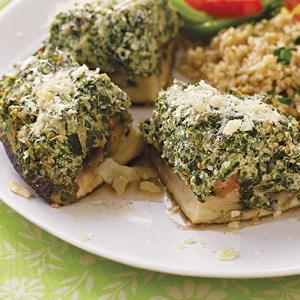 Spinach-Herb Portobello Mushrooms