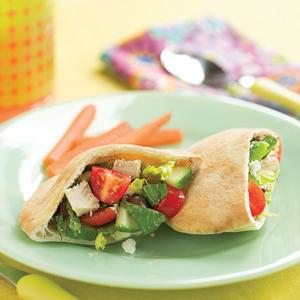 Greek Chicken Salad Pockets