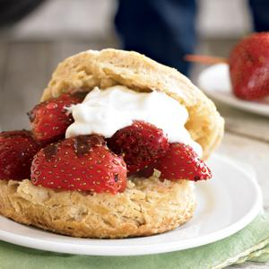 Ginger Shortcakes with Grilled Strawberries and Vanilla Whipped Cream