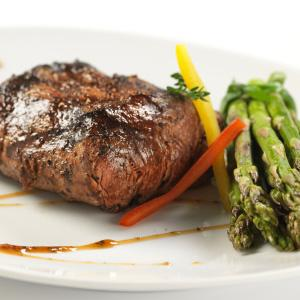 Balsamic Dijon Steak with Asparagus