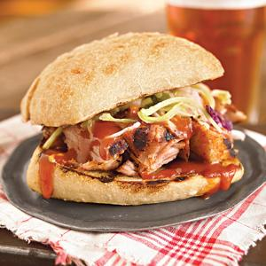 Boneless BBQ Rib Sandwich with Tangy Coleslaw