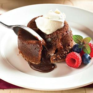 Molten Semisweet Chocolate Cakes