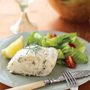 Yogurt-Marinated Baked Cod