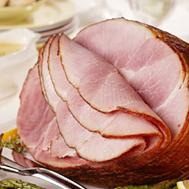 Spiral Ham with Slow-Roasted Asparagus and Lemon-Thyme Sauce