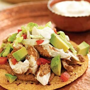 Chicken Mole Tostadas