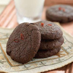 Chocolate Chili Truffle Cookies