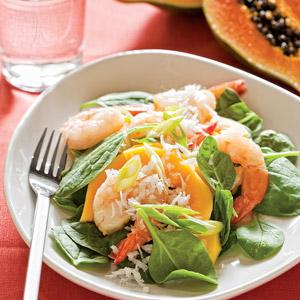 Shrimp-Papaya Salad with Vanilla Vinaigrette