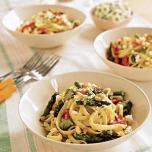 Pasta with Roasted Asparagus