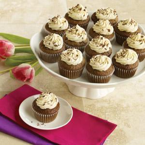 Graduation Day Cupcakes with Caramel Buttercream