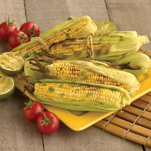 Grilled Corn on the Cobb with Chipotle and Lime