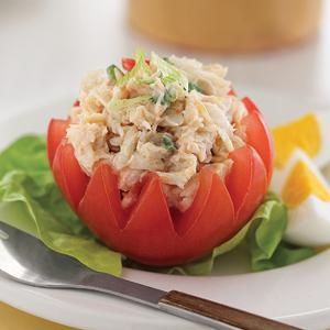 Crab Louis Stuffed Tomatoes