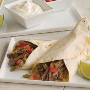 Chili Pepper Beef Burritos in the Slow Cooker