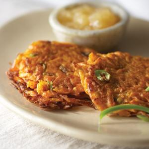 Sweet Potato and Scallion Latkes