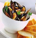Garlic Wine Steamed Mussels