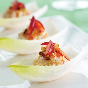 Crab Stuffed Endive Leaves