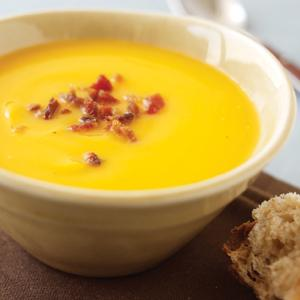 Butternut Squash and Apple Soup with Pancetta