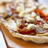 Portabella Mushroom and Red Pepper Pizza