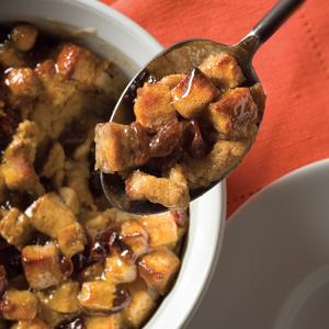 Maple Raisin Bread Pudding