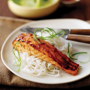 Miso and Soy Roasted Salmon