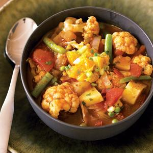 Curried Vegetable Stew with Clementine Salsa