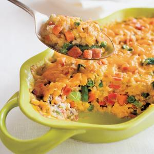 Creamy Ham Vegetable and Rice Casserole