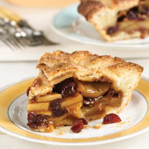 Apple Cranberry Pie with Cheddar Cheese Crust