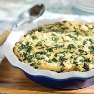 Spinach Rice Pilaf Pie