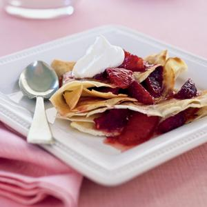 Orange Pomegranate Crepes