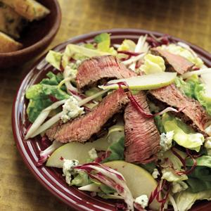 Steak Salad with Blue Cheese and Pears