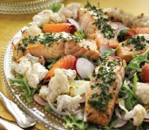 Two-Salmon Salad with Herb Dressing